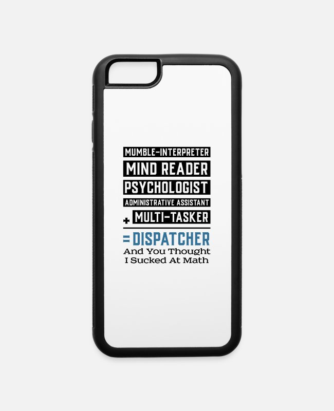 Operator iPhone Cases - 911 DISPATCHER / OPERATOR GIFT : Multitasker - iPhone 6 Case white/black