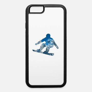 Powder Snow Snowboarding Snowboard Wintersport Gift - iPhone 6/6s Rubber Case