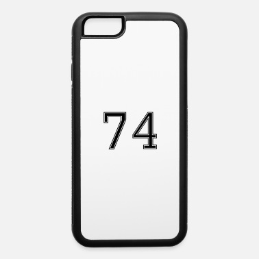 American-football Number 74 American Football, Soccer, Sport Design - iPhone 6/6s Rubber Case
