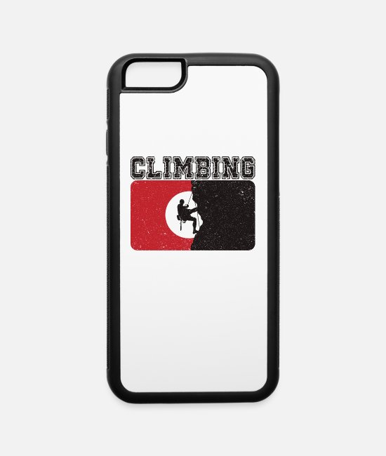 Mountains iPhone Cases - Mountain Climbing - iPhone 6 Case white/black