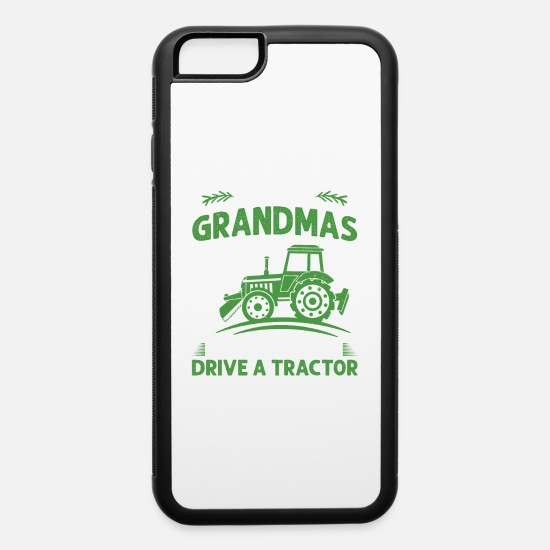 Cow iPhone Cases - Tractor Shirt - Agriculture - Grandmas - iPhone 6 Case white/black