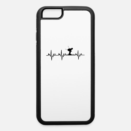 Mountains iPhone Cases - Skiing - iPhone 6 Case white/black