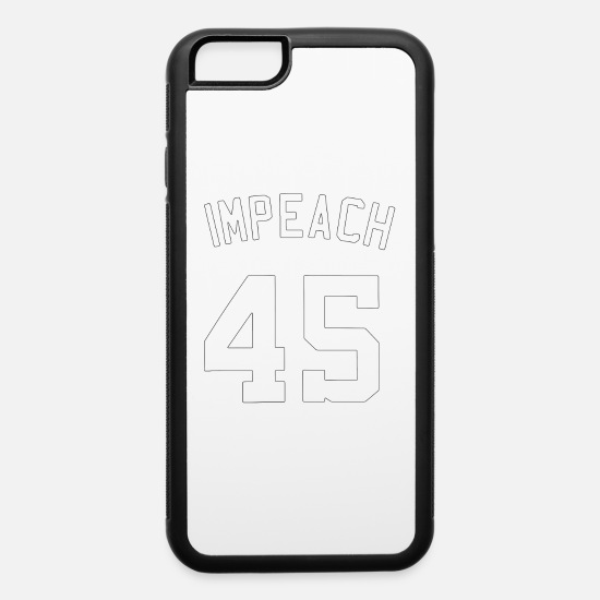 45 iPhone Cases - Baseball impeach 45 - iPhone 6 Case white/black