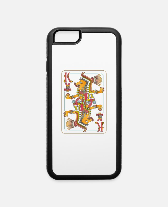 Inca iPhone Cases - Playing cards with Aztec gods - iPhone 6 Case white/black