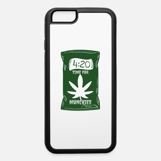 Pothead iPhone Cases - Time for Munchies | 420 Pot Leaf - iPhone 6 Case white/black