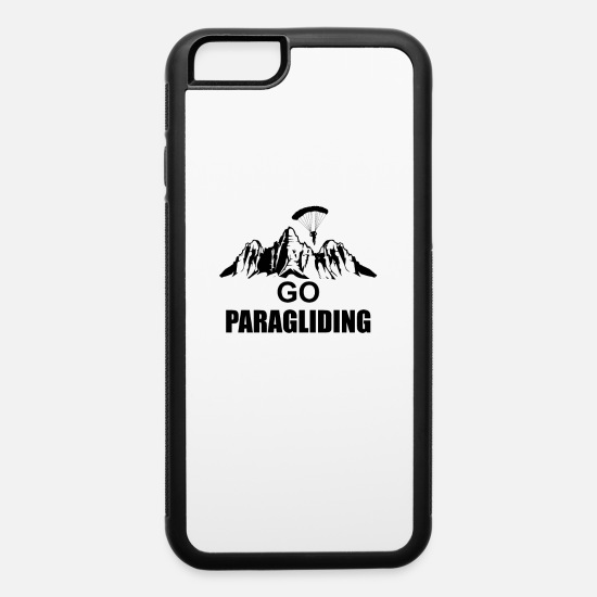 Skies iPhone Cases - Paragliding - iPhone 6 Case white/black