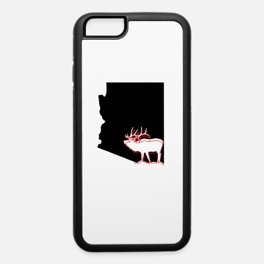 Hunting image of Arizona state with outline of Elk inside - iPhone 6 Case