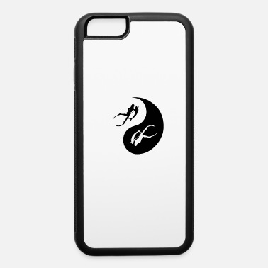 Fisherman Spearfishing Underwater Freediving Ying And Yang - iPhone 6 Case