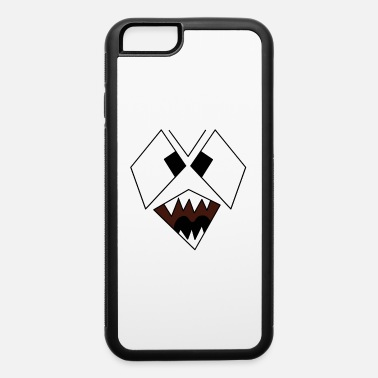 Monster Graphic Scary Snarling Angry Monster Face Graphic - iPhone 6 Case