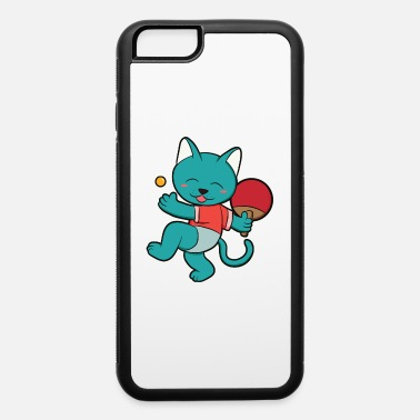 Tennis Funny Cat Table Tennis Player Gift Girl - iPhone 6 Case