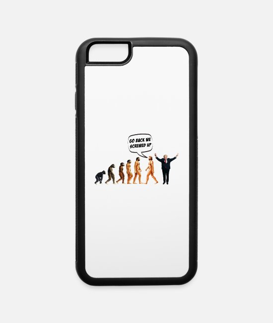 Funny Anti Trump iPhone Cases - funny anti trump design - iPhone 6 Case white/black