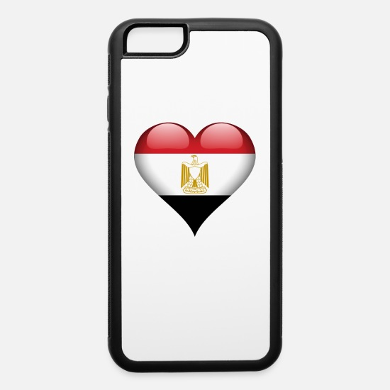 Country iPhone Cases - Heart Egypt - iPhone 6 Case white/black