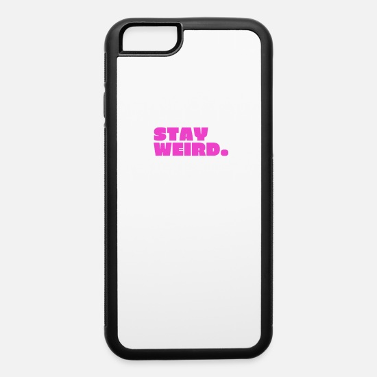 80s iPhone Cases - Stay Weird graphic design - iPhone 6 Case white/black