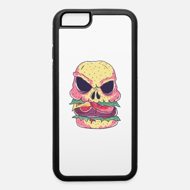 Halloween Skeleton Food Skull Burger Tshirt cool halloween fast food - iPhone 6 Case