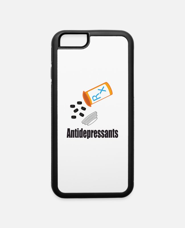 Quote iPhone Cases - Antidepressants hockey puck - iPhone 6 Case white/black