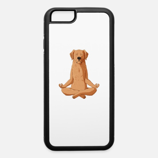 Golden Retriever iPhone Cases - Yoga Golden Retriever Dog - iPhone 6 Case white/black