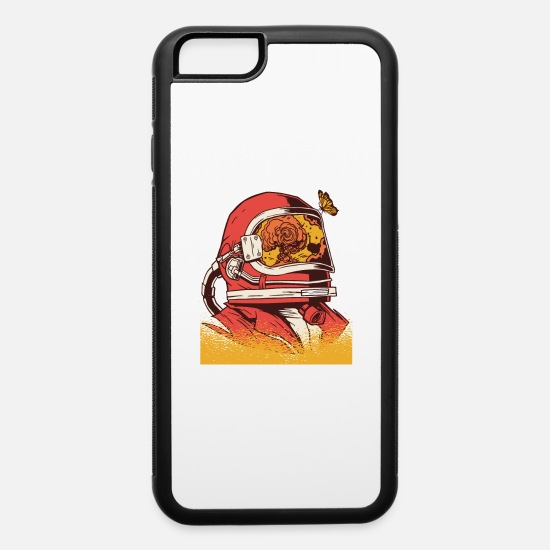 Mirror iPhone Cases - Astronaut helmet with a reflection of an explosion - iPhone 6 Case white/black