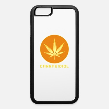 Stone 420 Weed Cannabidiol Hemp Leaf CBD Pothead Gift - iPhone 6 Case