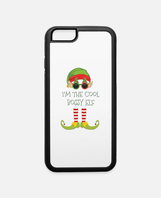 Black Friday iPhone Cases - I'm The Cool Bossy Elf - iPhone 6 Case white/black