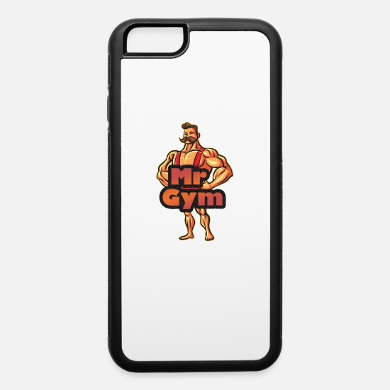 Gymnast iPhone Cases - Mr Gym Bodybuilders & Weightlifters - iPhone 6 Case white/black