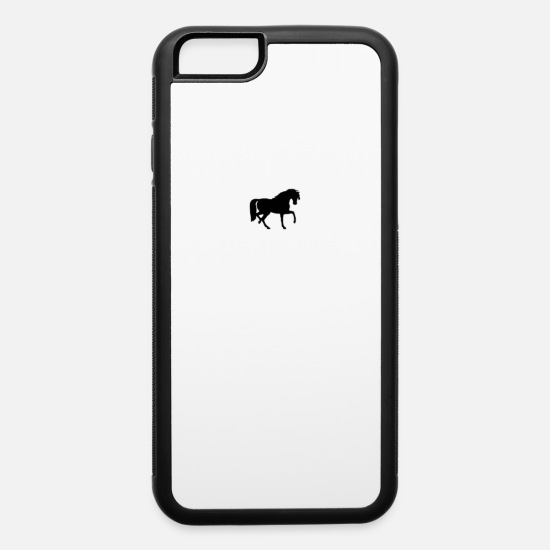 Horse Racing iPhone Cases - Horse - iPhone 6 Case white/black