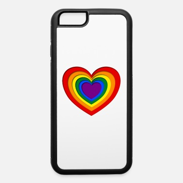 Paper Colorful papercut heart lgbt style - iPhone 6 Case