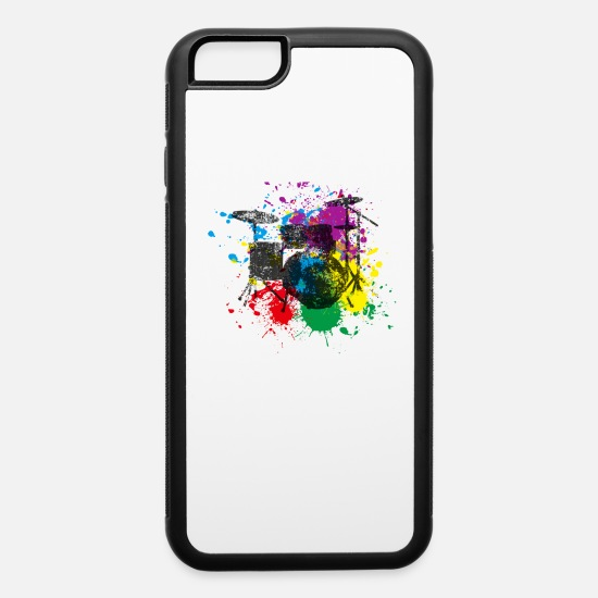 Play iPhone Cases - Drums Gift Idea for Drummer - iPhone 6 Case white/black