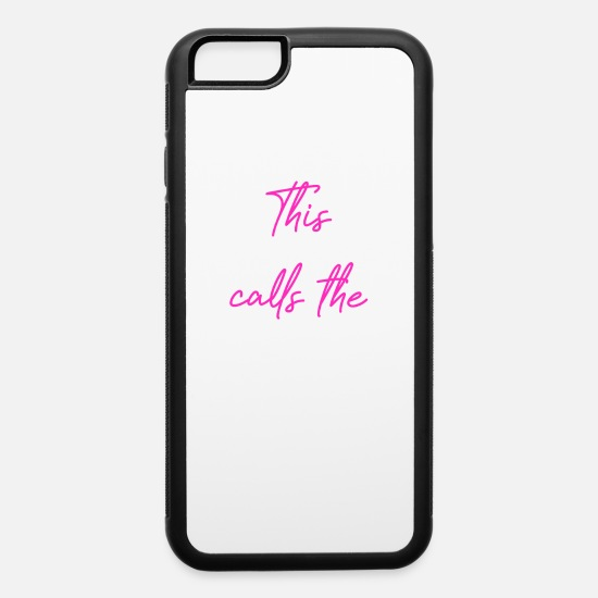 Twins iPhone Cases - This Mama Calls The Shots - iPhone 6 Case white/black