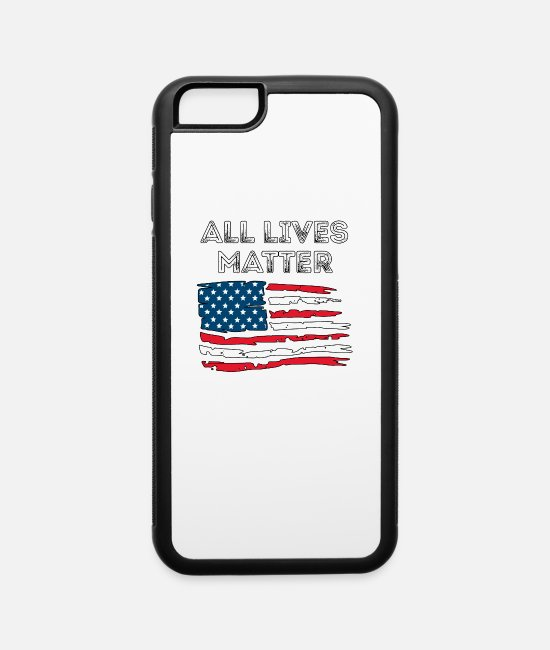 Affair iPhone Cases - All Lives Matter - Proud Awareness Black Power - iPhone 6 Case white/black