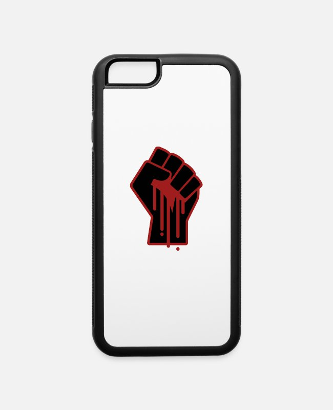Black Power iPhone Cases - Black Lives Matter - Protest Social Injustice - iPhone 6 Case white/black