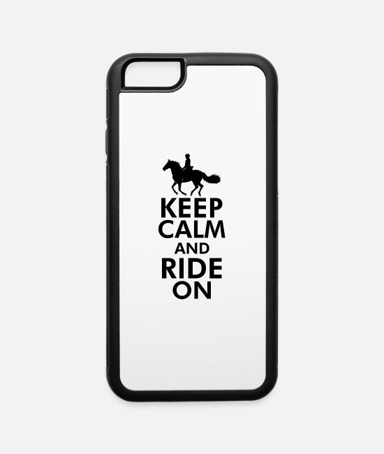 Riding iPhone Cases - Ride on Horse Riding - iPhone 6 Case white/black