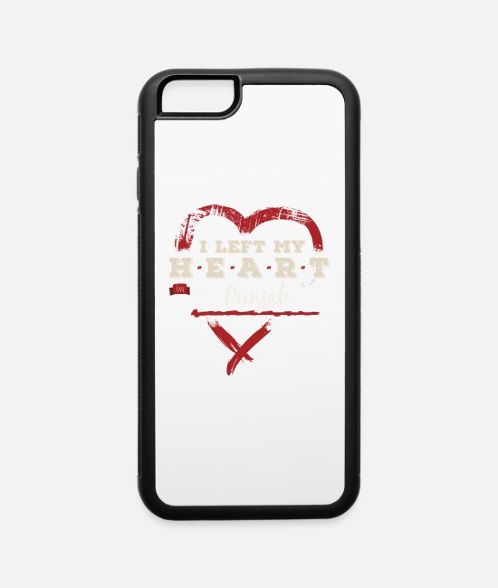 Proud iPhone Cases - I Left My Heart In Punjab Pride - iPhone 6 Case white/black