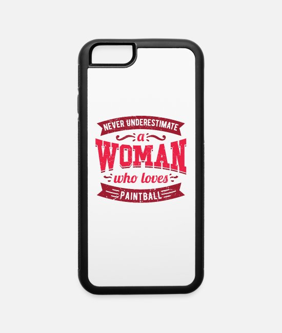 Quad iPhone Cases - Never Underestimate a Woman Who Loves quad bikes - iPhone 6 Case white/black
