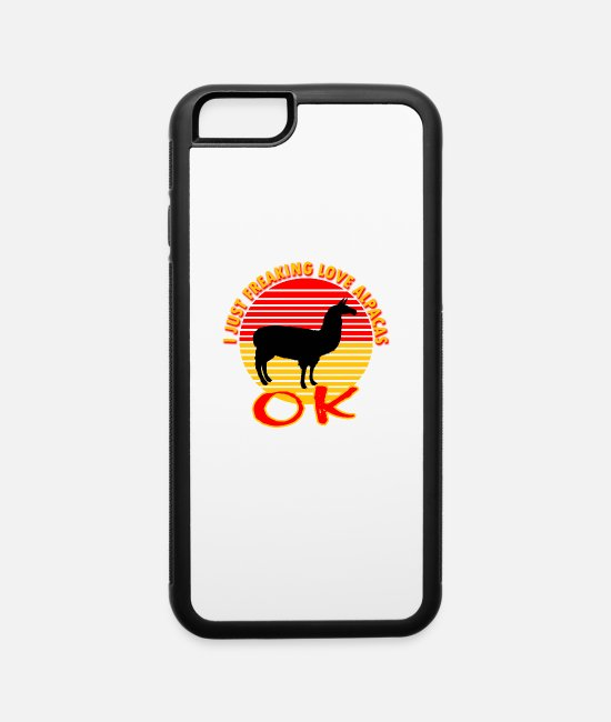 Christmas iPhone Cases - Alpaca T-Shirt - I Just Really Love Alpacas Ok? - iPhone 6 Case white/black