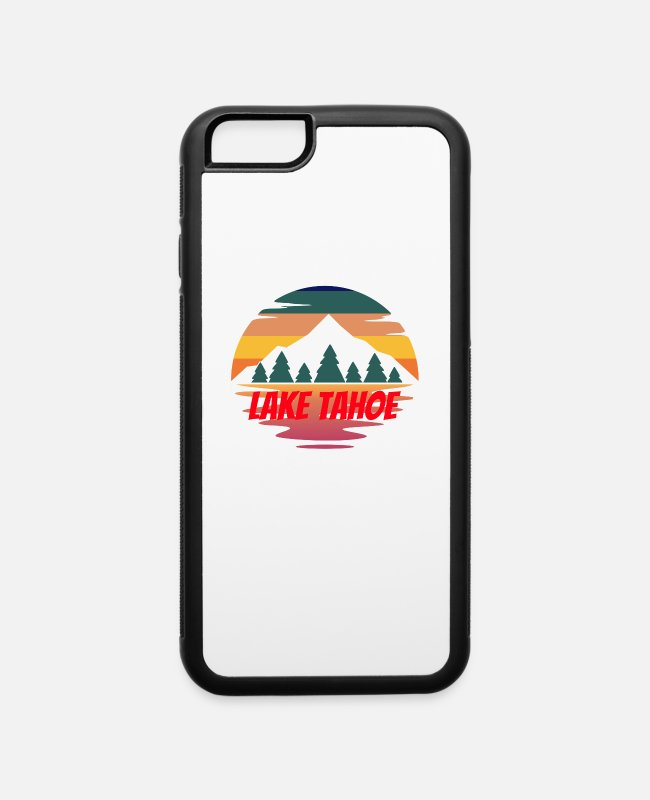 Nature iPhone Cases - lake tahoe for people who like lakes, vacations an - iPhone 6 Case white/black