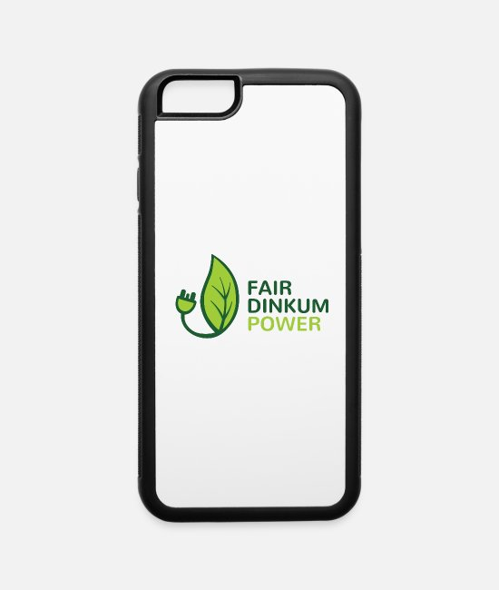 Fairy Tale Figure iPhone Cases - Fair Dinkum Power merch - iPhone 6 Case white/black