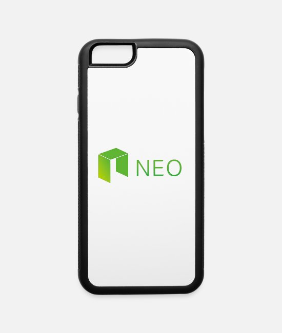 UV iPhone Cases - Neo Cryptocurrency logo - iPhone 6 Case white/black