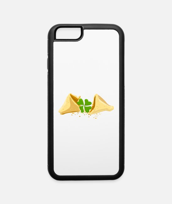 New Year's Day iPhone Cases - Fortune Cookie Good Luck Lucky Charm - iPhone 6 Case white/black