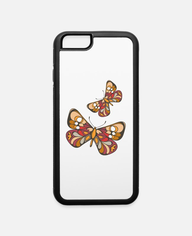 Heart iPhone Cases - Butterfly Love Gift Birthday Case Birthday iPhone - iPhone 6 Case white/black