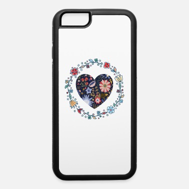 Flower Motif Colorful Flowers Heart I Flowers Floral Motif - iPhone 6 Case