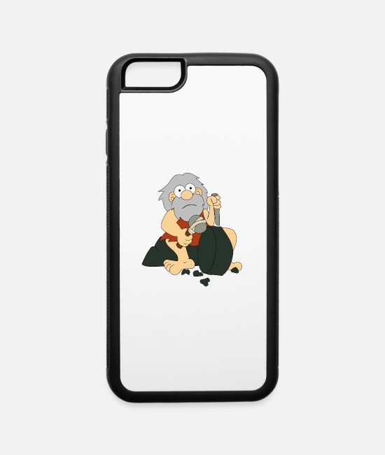 Cave iPhone Cases - cave-man - iPhone 6 Case white/black
