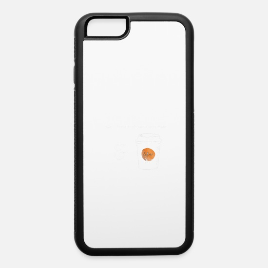 Run Away iPhone Cases - run on keto and coffee - weight loss lifestyle - iPhone 6 Case white/black