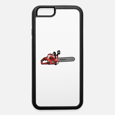 Chain Saw chain saw trees red cut down trees forest present - iPhone 6 Case