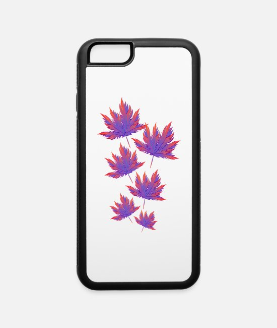 Nature iPhone Cases - Autumn leaf - iPhone 6 Case white/black