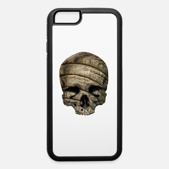 Grungy iPhone Cases - skull / elephant skin - iPhone 6 Case white/black