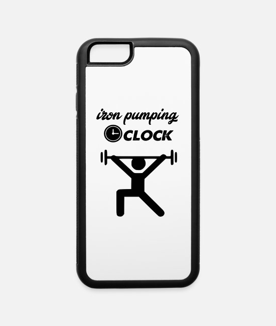 Training iPhone Cases - iron pumping oclock - iPhone 6 Case white/black