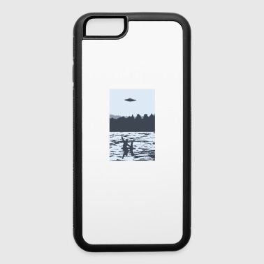 UFO over Bigfoot Riding on Nessie Lochness Monster - iPhone 6/6s Rubber Case