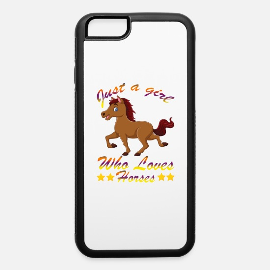 Starry Sky iPhone Cases - Just A Girl Who Loves Horses - iPhone 6 Case white/black