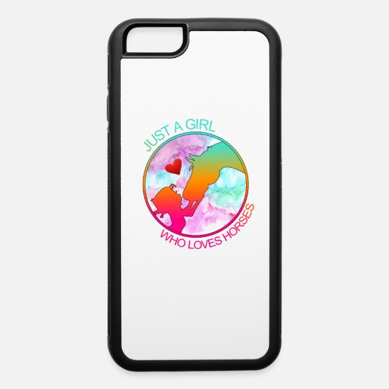 Hor iPhone Cases - Just A Girl Who Loves Horses - iPhone 6 Case white/black