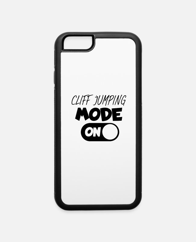 Black Metal iPhone Cases - Cliff jumping mode ON black - iPhone 6 Case white/black